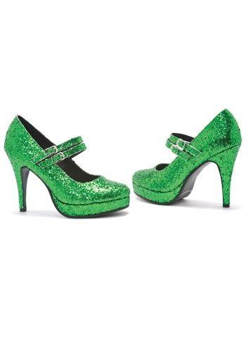 Green Glitter Shoes
