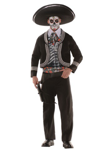 Men's Plus Size Day of the Dead Costume