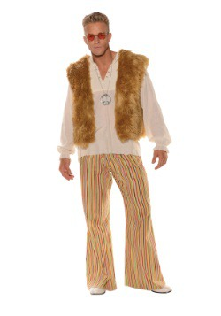 Men's Plus Size Sunny Hippie Costume