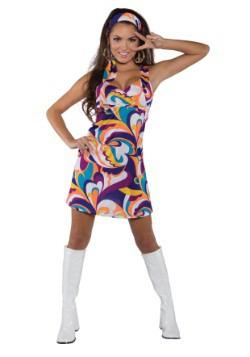 Women's Peace Mini Dress Costume