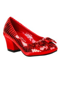 Child Red Sequin Shoes
