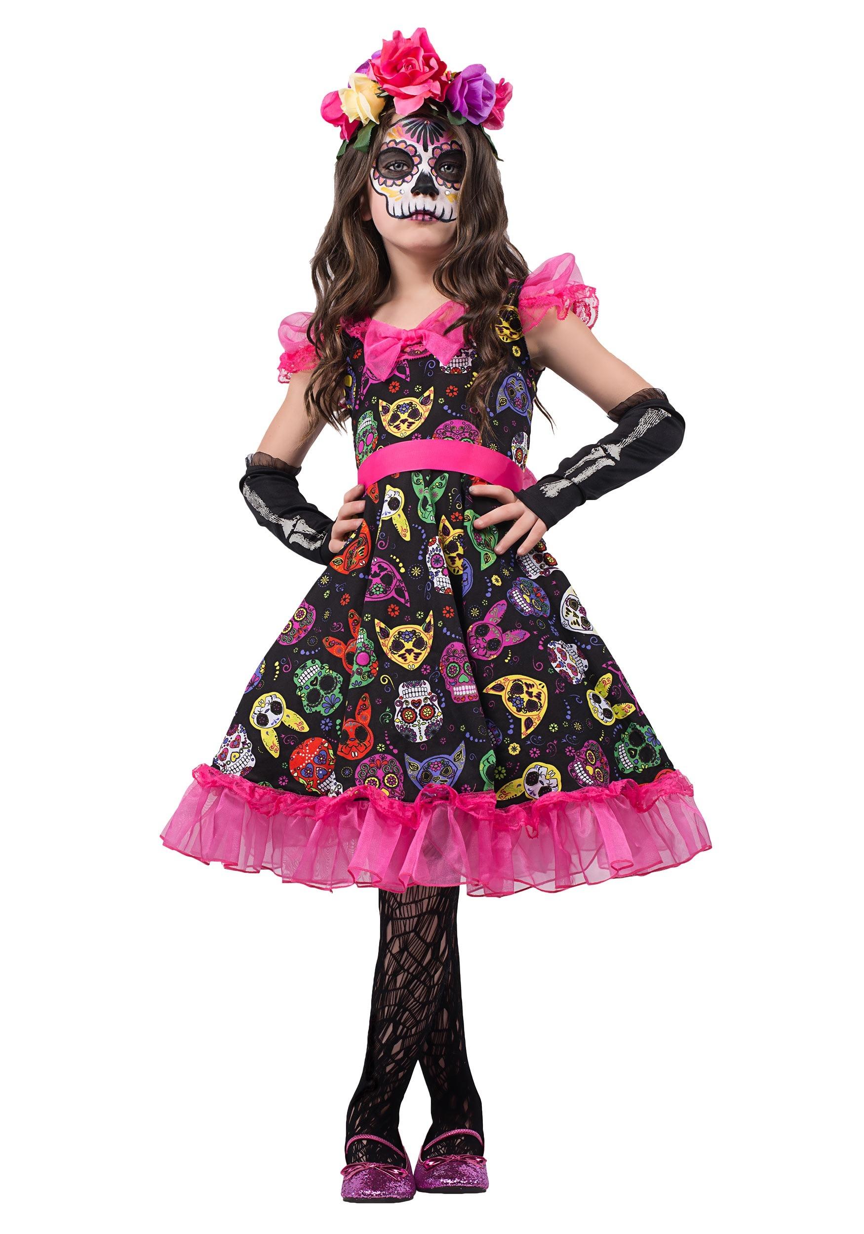 Girls Sugar Skull Sweetie Costume-8650