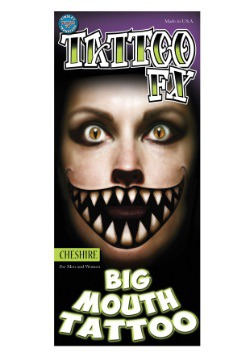 Cheshire Cat Temporary Big Mouth Tattoo