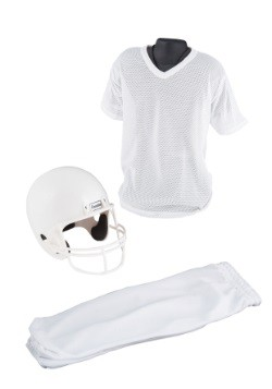 Child Deluxe Football White Uniform Set