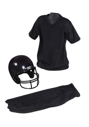 Child Deluxe Football Black Uniform Set