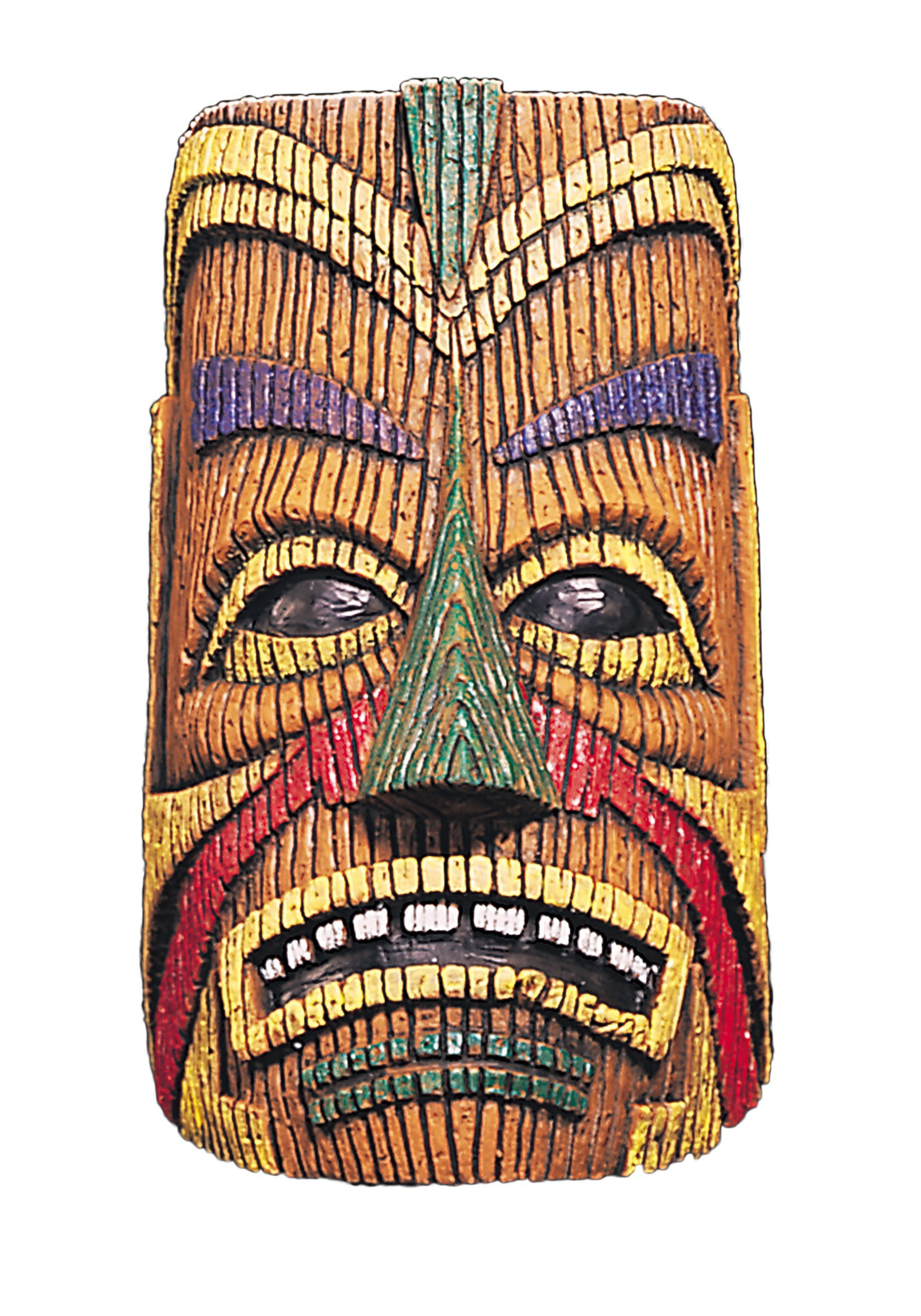 Adult Polynesian Overhead Tiki Latex Mask