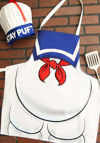 Ghostbusters Stay Puft Apron and Chef Hat Set