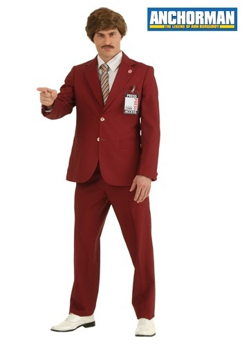 Authentic Ron Burgundy Suit