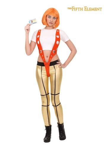 5th Element Leeloo Orange Harness Costume