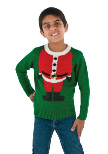 Child Santa Head Christmas Sweater