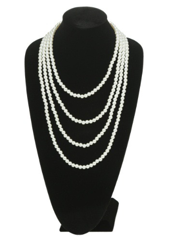 Multi Strand Pearl Flapper Necklace