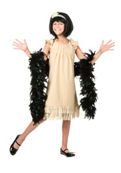 Child Pearl and Lace Flapper