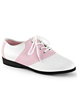 Women's Pink Saddle Shoes