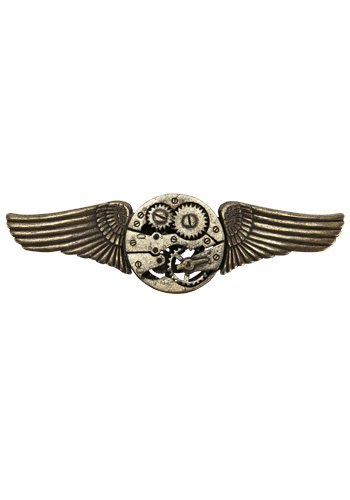 Antique Gear Wing Pin