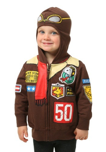Peanuts Snoopy Toddler Boys Bomber Jacket Hooded Sweatshirt