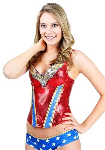 Wonder Woman Sequin Corset