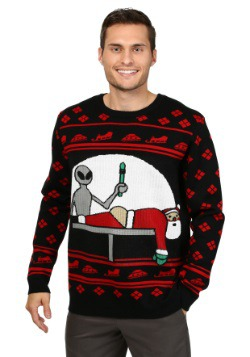 Men's Santa Probe Christmas Sweater