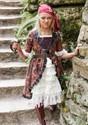 Girl's Brown Coat Pirate Costume Alt 2