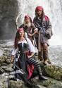 Girl's Brown Coat Pirate Costume Alt 3