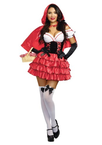 Womens Ruffle Red Riding Hood Costume