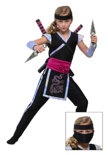 Girl's Rainbow Ninja Costume