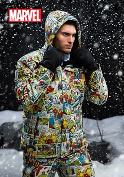 Adult Marvel Retro Comic Print Snowboard Jacket