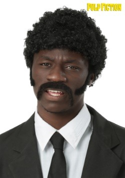 Pulp Fiction Adult Jules Winnfield Wig and Facial Hair Set