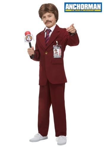 Child Anchorman Ron Burgundy Costume