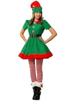 Womens Holiday Elf Costume
