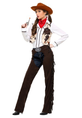 Adult Cowgirl Chaps Plus Size Costume