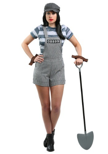 Women's Chain Gang Prisoner Costume