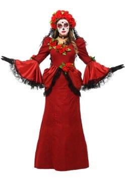 Women's Plus Size Day of the Dead Costume
