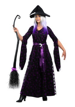 Womens Purple Moon Witch Costume