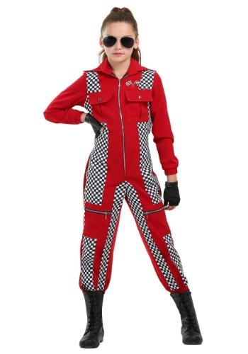 Racer Jumpsuit Girls Costume