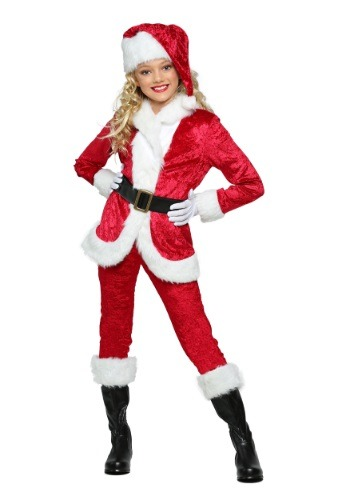 Girl's Sweet Santa Costume