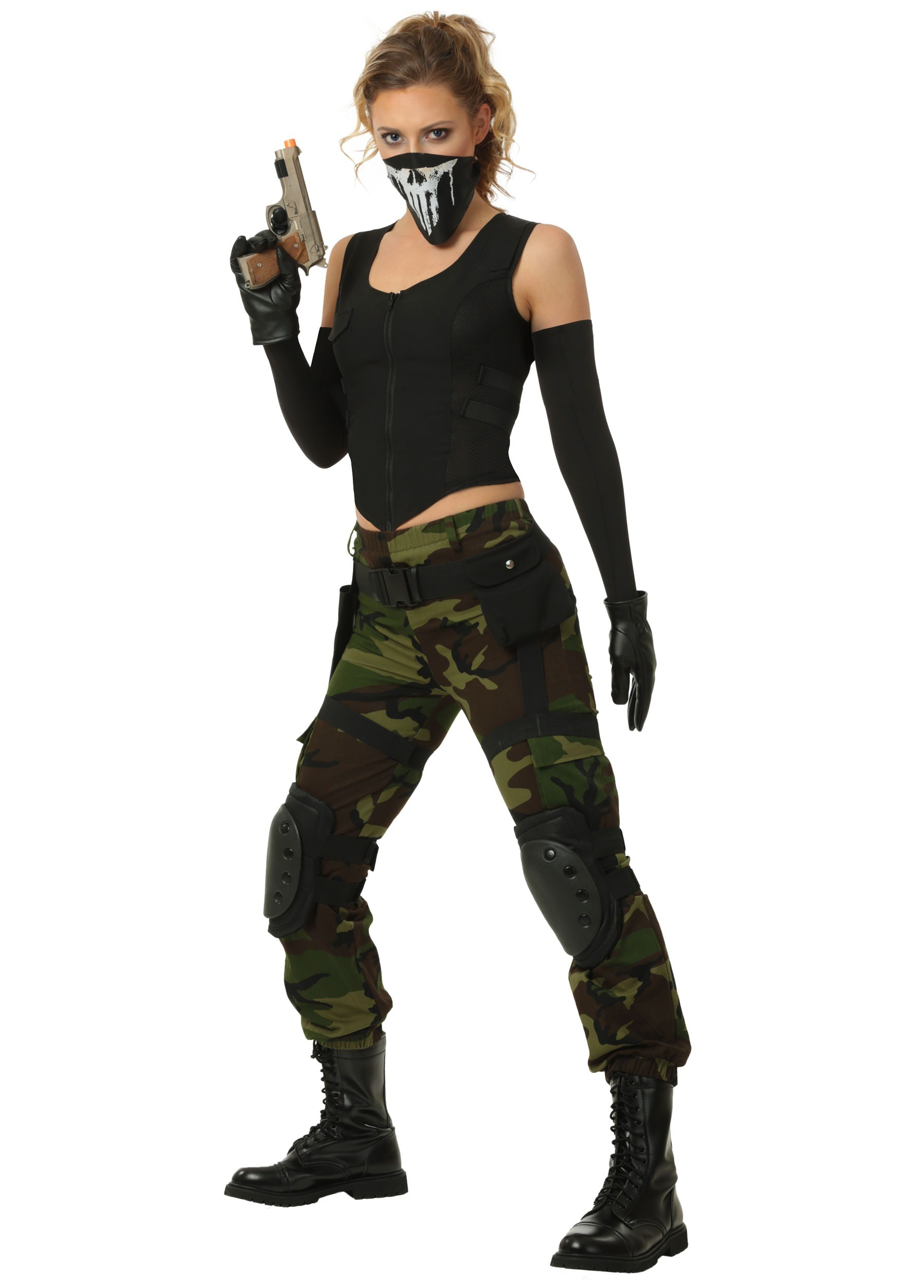 INOpets.com Anything for Pets Parents & Their Pets Fighting Soldier Plus Size Costume for Women