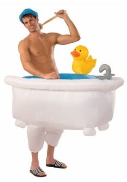 Adult Inflatable Man in Tub Costume