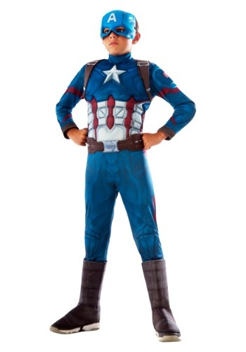 Boys Captain America Deluxe Costume
