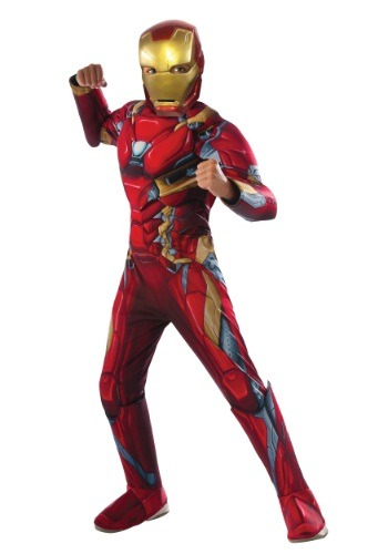 Boys Civil War Iron Man Deluxe Costume
