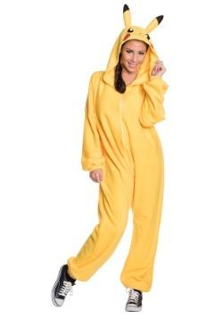 Adult Pikachu Jumpsuit Costume