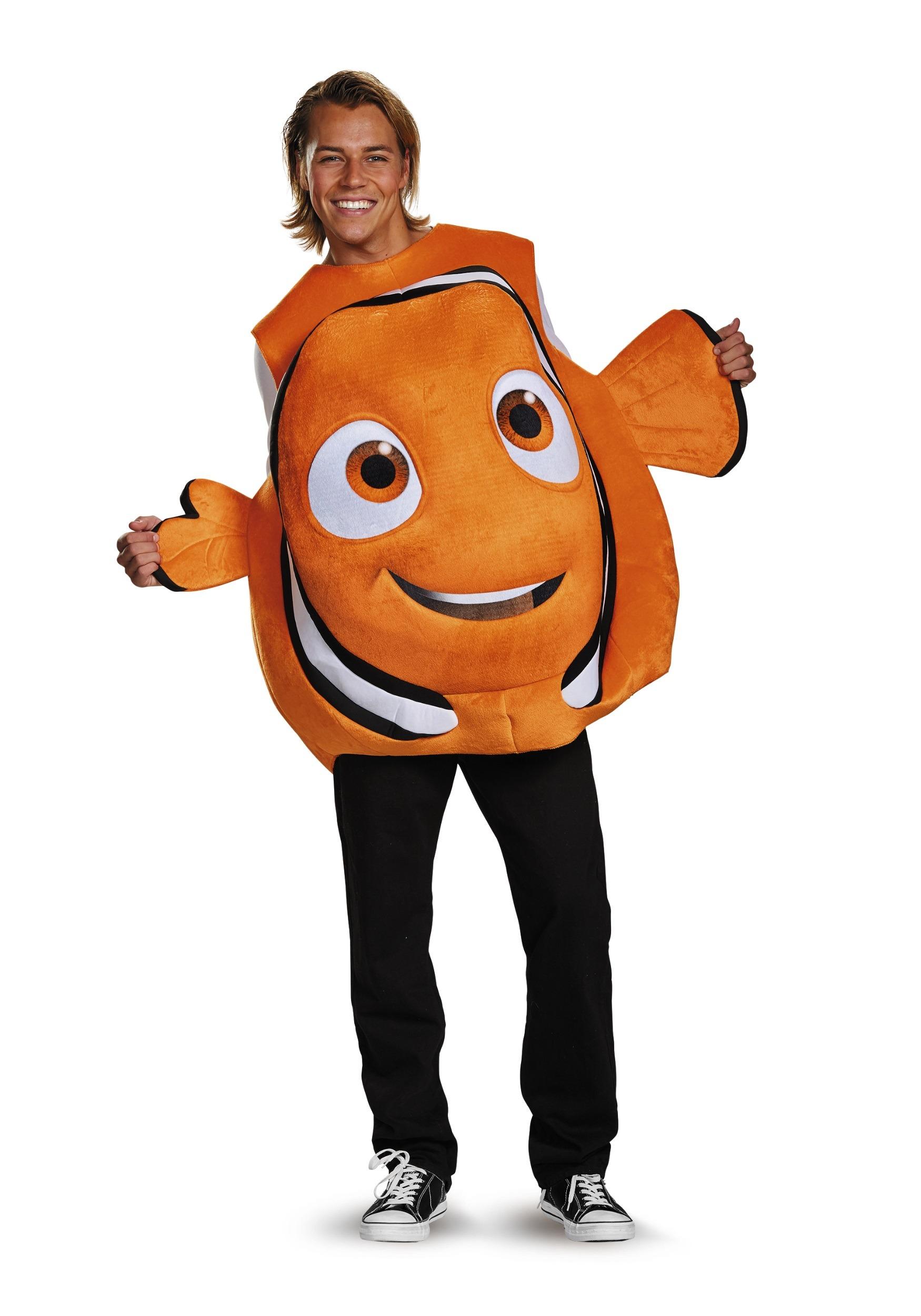 Nemo adult fish costume for Fish costume men