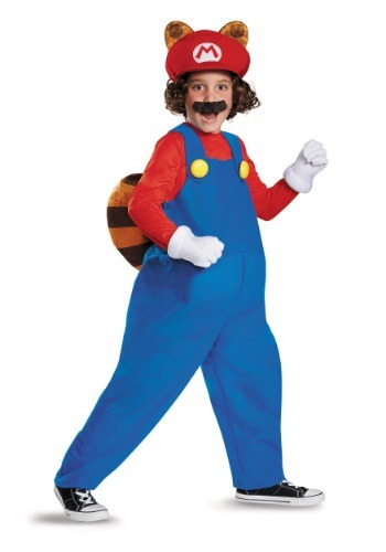 Child Deluxe Mario Raccoon Costume