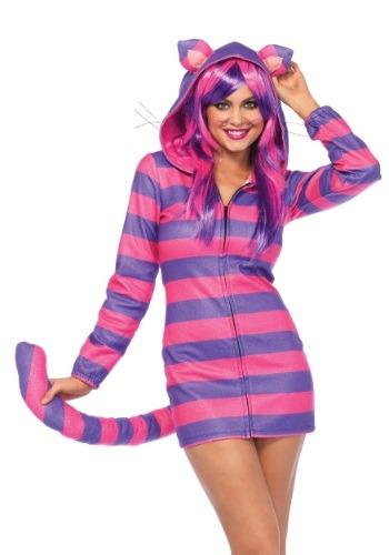 Women's Cozy Cheshire Cat Costume