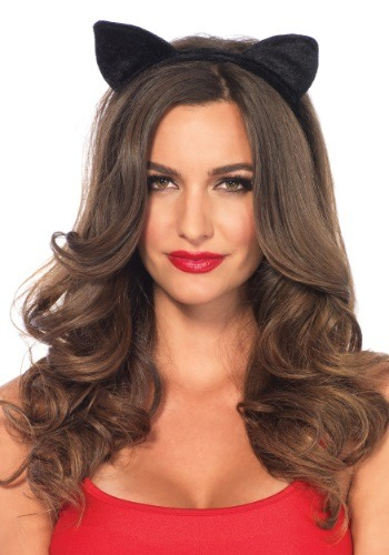 Velvet Black Cat Ears