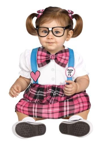 Toddler Cutie Pi Nerd Costume
