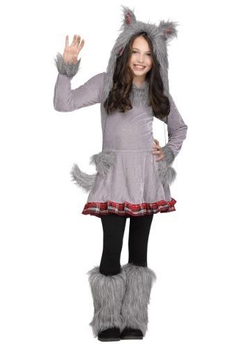 Girl's Wolf Cub Costume