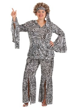 Plus Size Women's Foxy Lady Disco Costume