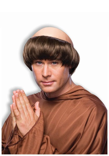 Dark Brown Monk Wig