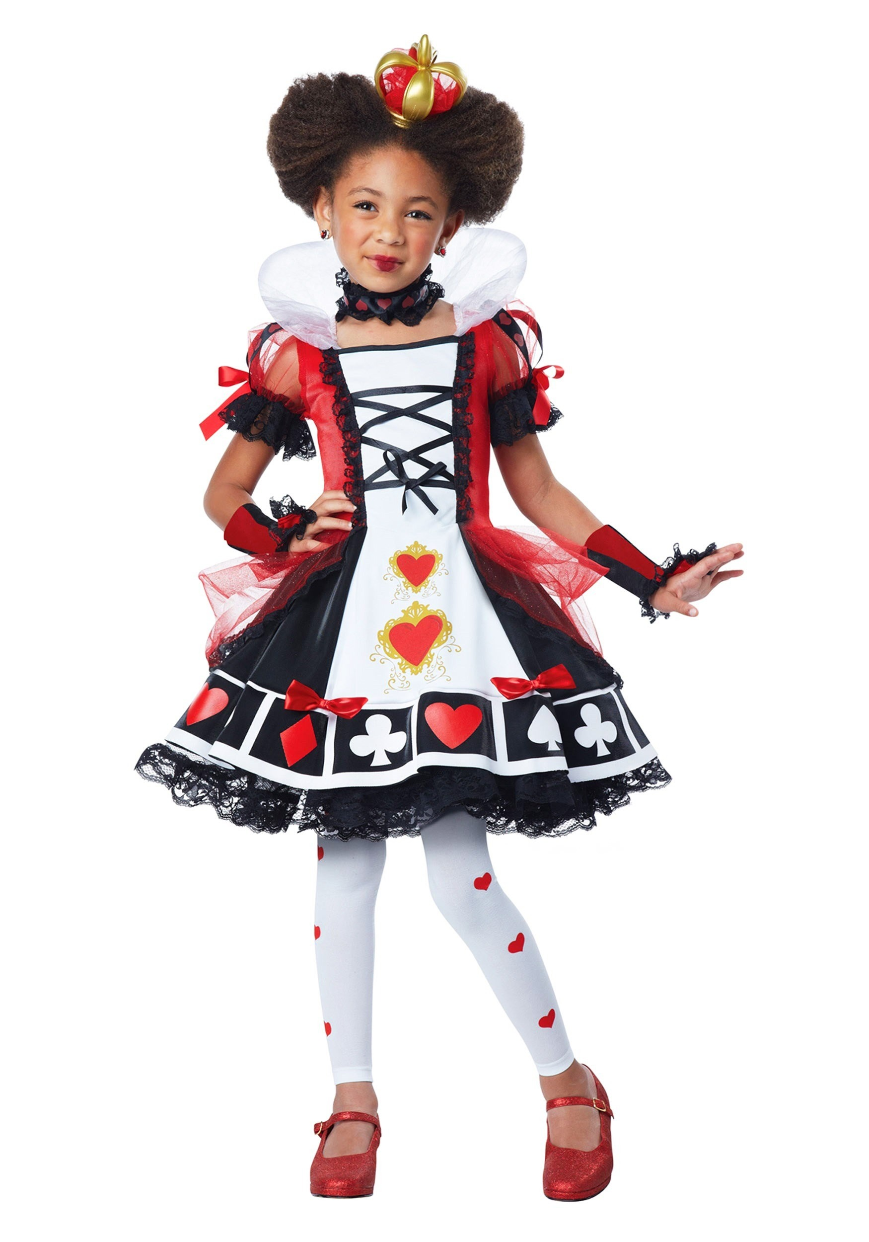 Deluxe Queen of Hearts Costume for Children