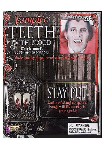 Vampire Teeth with Blood
